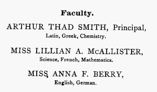 Nute Faculty, 1900