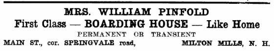 Pinfold, Mrs. William