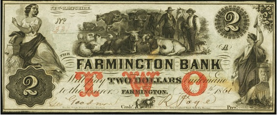 Farmington Bank Two-Dollar Bill