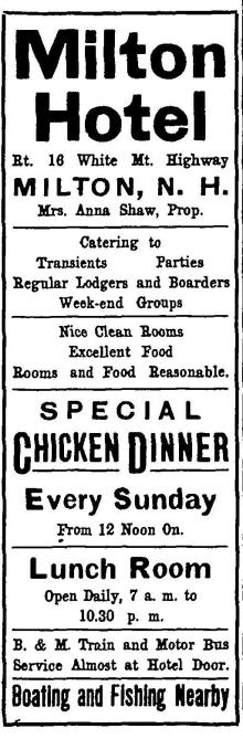 Milton Hotel Adv - 1942 - FN420605