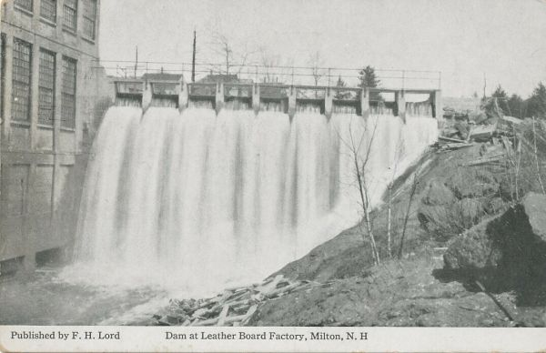 Dam at Leather Board Mill - FH Lord - 1914 - Obverse