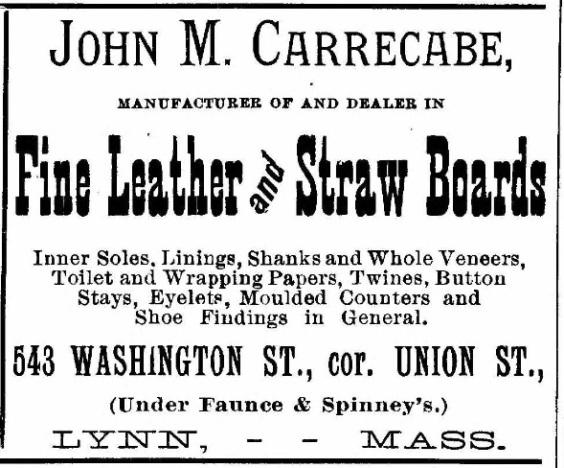 Carrecabe, John M - Lynn, 1897
