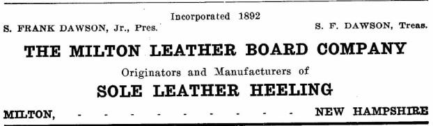 Milton Leatherboard - 1917