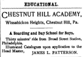 Chestnut Hill Academy - 1903