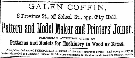 Coffin, Galen - Boston Directory, 1878
