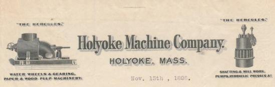 Holyoke Machine Company Letterhead
