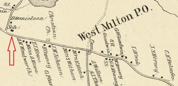 West Milton PO - 1892