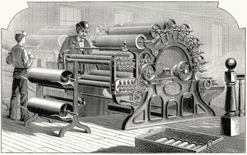 Davis & Furber Wool Carding Machine - 1880