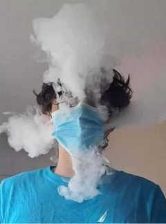Exhaling with a Mask