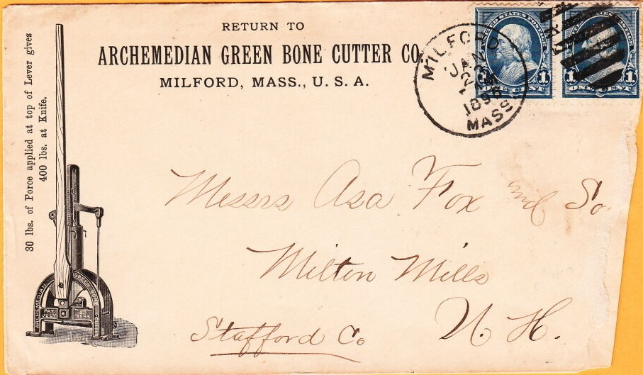 Archemedian Green Bone Cutter Co, 1896