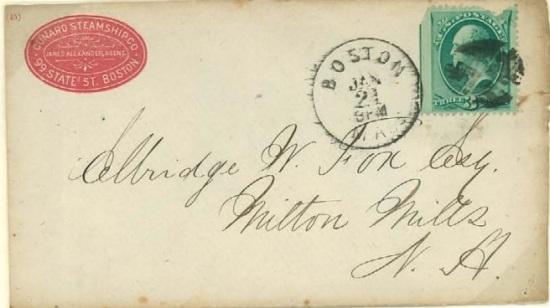 Cunard-to-EW Fox, 1875
