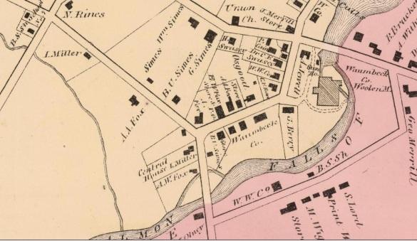 Milton Mills, 1871 - Detail