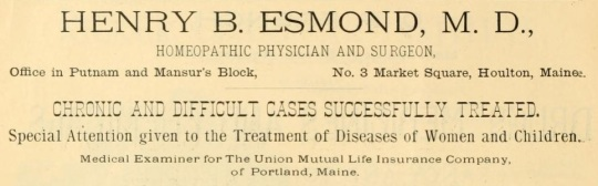 Esmond, HB - 1891