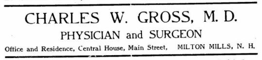 Gross, CW - 1909