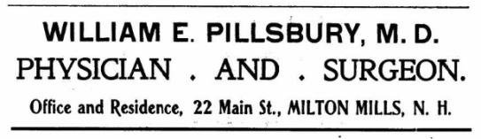Pillsbury, WE - 1904