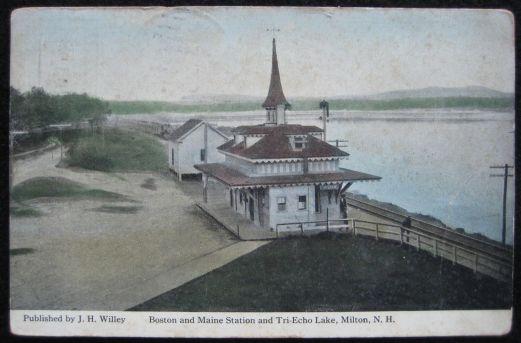 B&M RR Station and Tri-Echo Lake