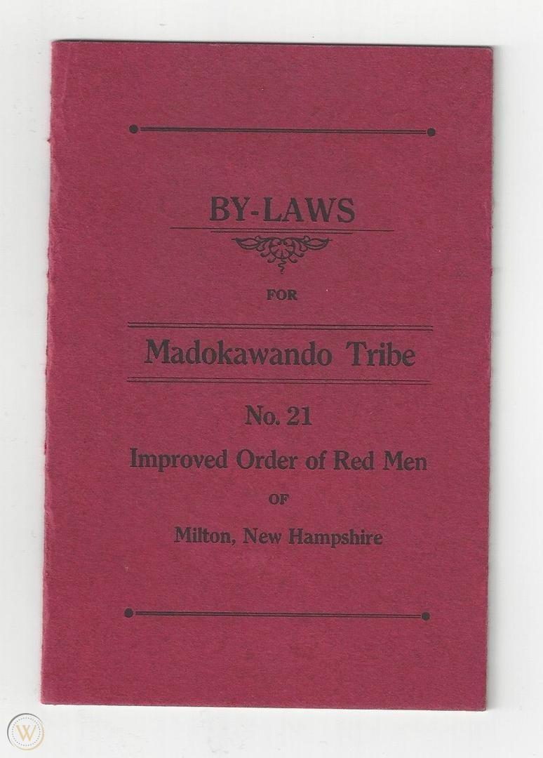 Madokawanda By-Laws - 1926