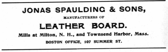 Spaulding, J and Sons - 1900