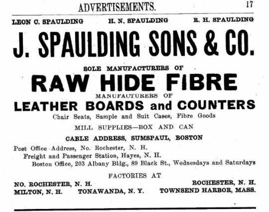 Spaulding, J and Sons - 1917
