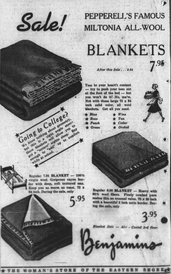 Miltonia Blanket - 1938