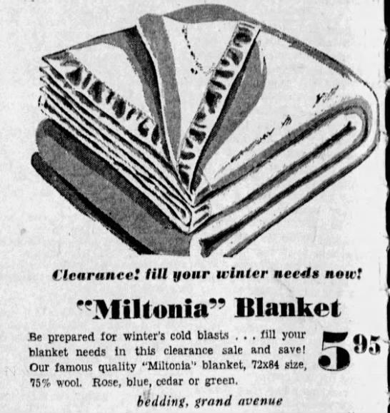 Miltonia Blanket - 1945