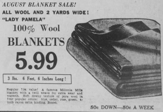 Miltonia Blanket - 1949