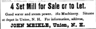 4-Set Mill For Sale - 1889