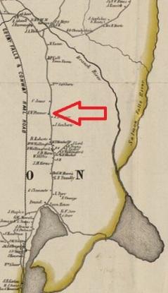 Plummer's Ridge - Milton 1856 (Detail)