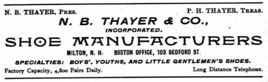 Thayer, NB - 1900